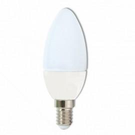 LED žárovka E14 230V, svíčka 5W, teplá bílá