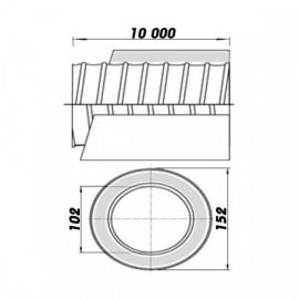 Ohebné ventilační potrubí izolované 100/10m