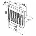 Ventilátor Dalap 100 LVLZ - vyšší výkon, žaluzie, ložiska, časovač, tahový spínač
