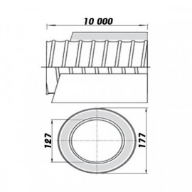 Ohebné ventilační potrubí izolované 125/10m