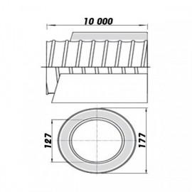 Větrací mřížka se žaluzií 187x187-125mm/MV120VJ
