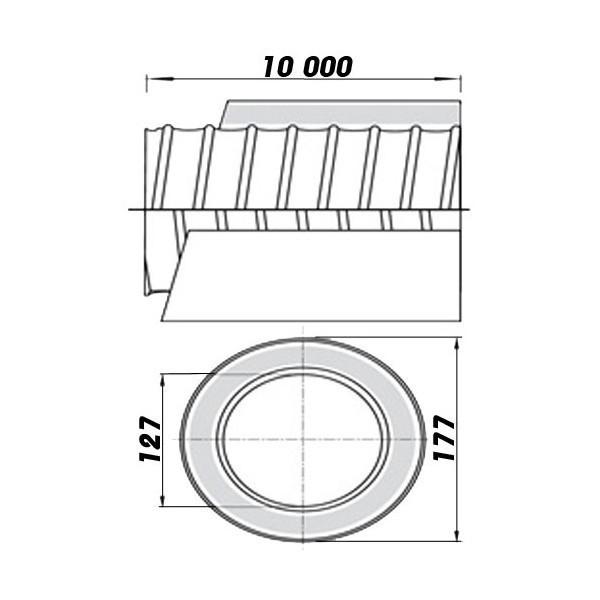 Větrací mřížka 187x187mm se žaluzií a přírubou 125mm bílá
