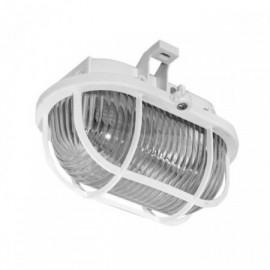 Průmyslové svítidlo OVAL bílé, 1xE27, 18x12cm, IP44