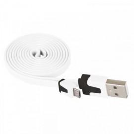 Kabel USB 2.0 A/M - M-MICRO B/M 1m bílá