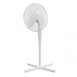 Stojanový ventilátor 40 cm, 3 rychlosti, bílý, 50 W