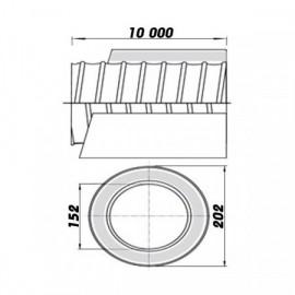 Ventilační potrubí izolované ALIT/SONO 150/10m - ohebné
