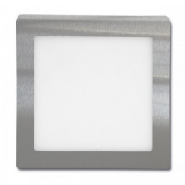 LED panel RAFA 2 chrom 17x17cm, 12W, 860lm, 2700K, IP20