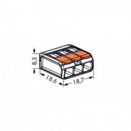 Wago 221-413 svorka krabicová s páčkou 3 x 4 mm
