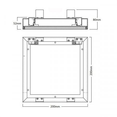 Vypínač Opus č. 5B, dvojitý, střídavý, řazení 6+6, stříbrný