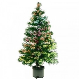 Umělý vánoční stromeček s optickými vlákny 150cm, barevný