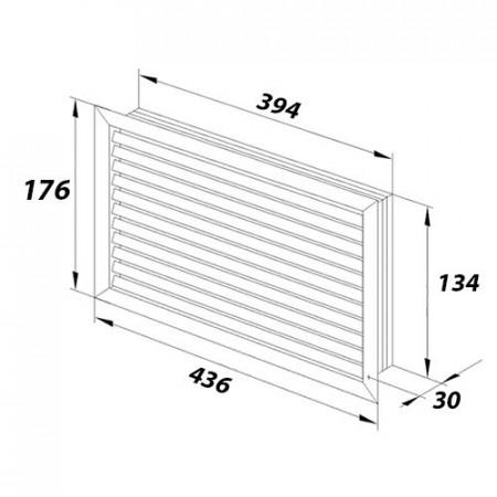 Rámeček Swing , trojnásobný ABB, 3901G-A00030 D1