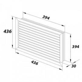 Zásuvka Swing dvojnásobná polozapuštěná ABB, 5512G-C02249 B1