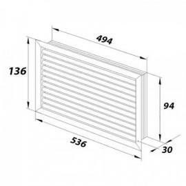 Zásuvka Swing dvojnásobná krémová ABB, 5512G-C02349 C1