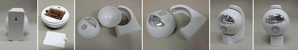 LED noční světlo bateriové 5 LED pir se soumrakovým senzorem