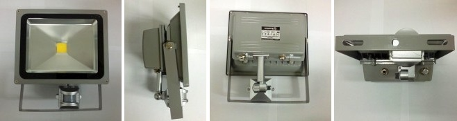 LED reflektor SMD s čidlem 50W RLEDF03-50W