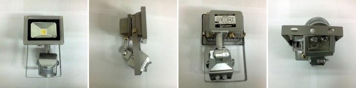 LED reflektor s čidlem pohybu RLEDF01-10W