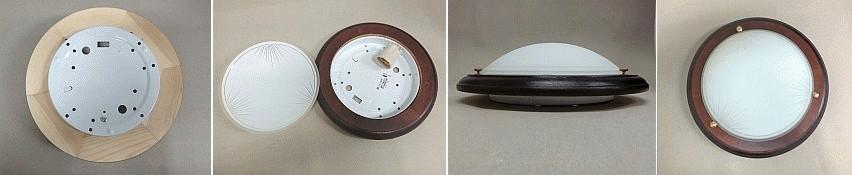 Stropní svítidlo Plafon Wenge, 1x60W, Greenlux 1030 MDR WENGE F