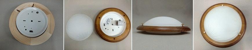 Stropní svítidlo Plafon buk, 1x60W, Greenlux 1030 MDR OAK F/S