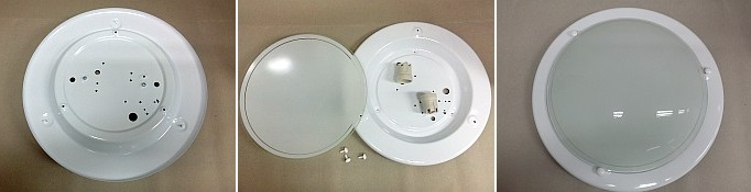 Stropní svítidlo kruh 1x60W 30cm bílá