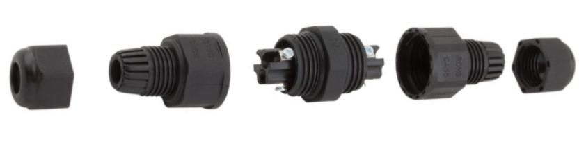 Kabelová spojka vodotěsná MINI 3x2,5mm, IP68