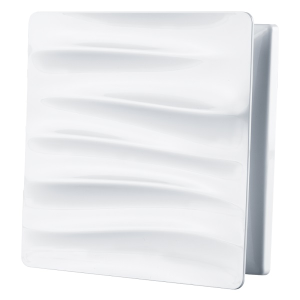 Bílá větrací mřížka s vlnami GP 100 SURGE