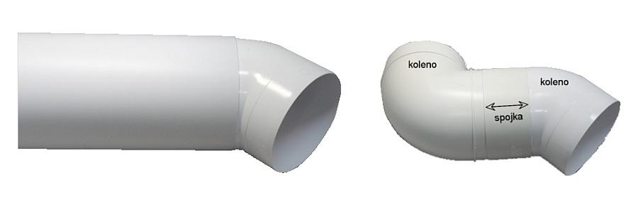 Plastové koleno 45° pro kruhové potrubí