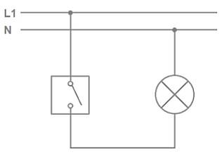 Schema zapojení vypínačů