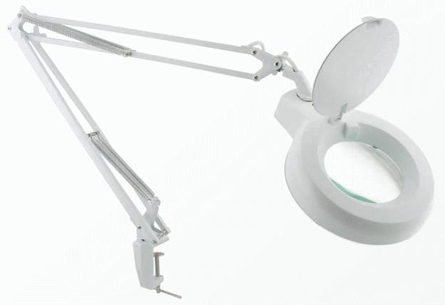 Stolní lupa s osvětlením 22W 5 dioptrií