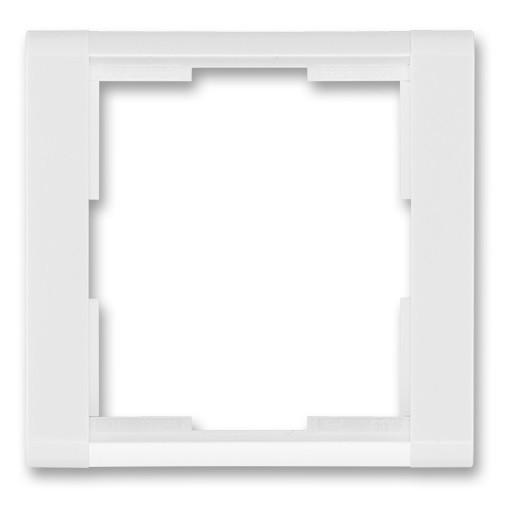 Jednonásobný rámeček ABB TIME 3901F-A00110 03 bílá/bílá